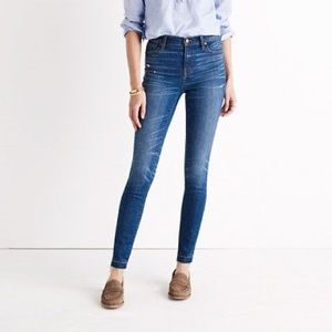 "Madewell 9"" Skinny Skinny Drop Hem Jeans"
